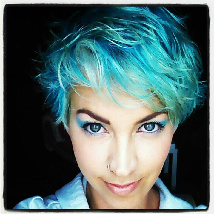When My Hair Goes Whitesomeday Blue Turquoise Teal