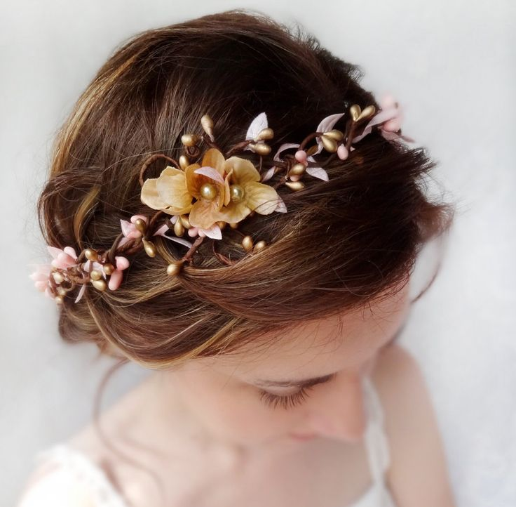 Wedding Hairpiece Pink And Gold Headband Gold Wedding