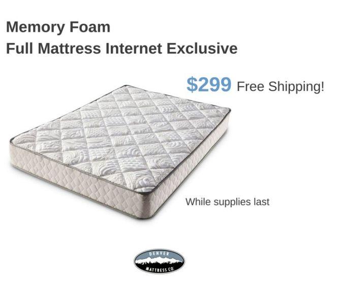 Internet Exclusive Get Free Shipping On The Comfort You Ve Been Dreaming Of Sleep Betterfoam Mattressmemory Foamdenverinternet