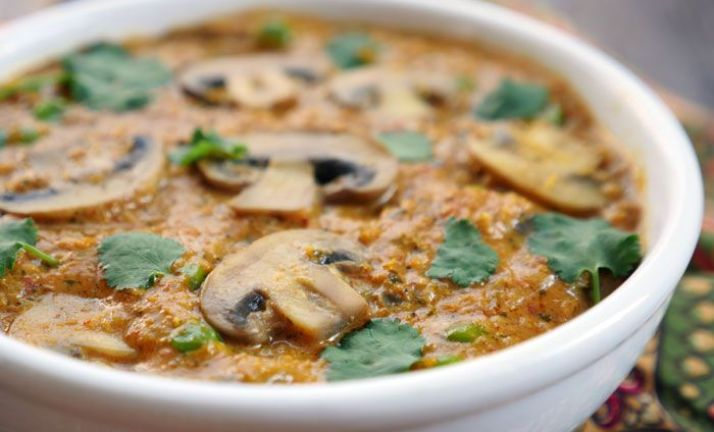 Corn Mushroom Curry