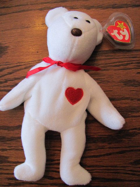 Ultra Rare Old Face Valentino Beanie Baby With Errors On