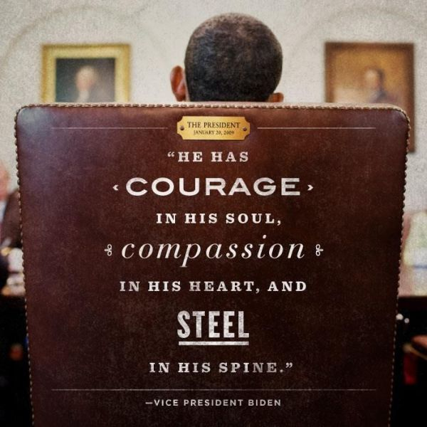 """""""He has courage in his soul, compassion in his heart, and ..."""