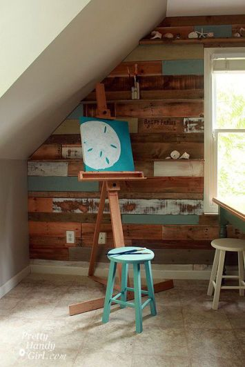 How to create and install a pallet wall - this is gorgeous! - my inspiration!!!