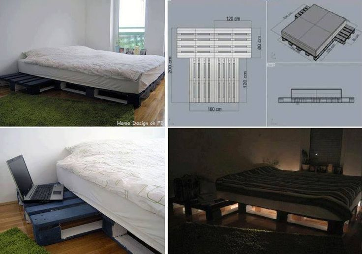 Diy Pallet Platform Bed Pallet Furniture Pinterest