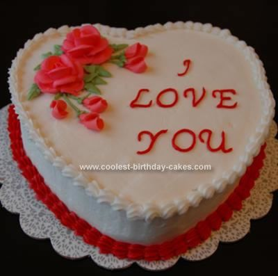 17 Best Images About Decorated Heart Cakes On Pinterest