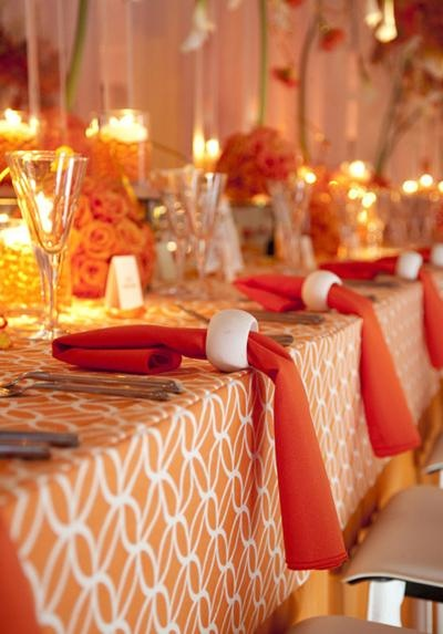 Indian Weddings Inspirations Orange Tablescapes Repinned By Indianweddingsmag