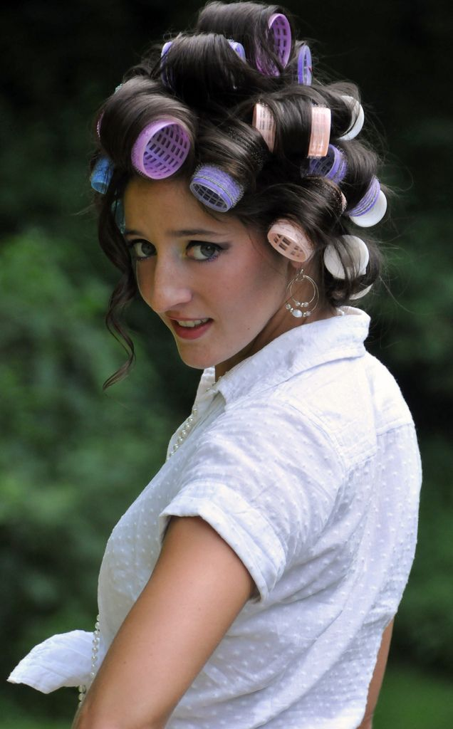 1000 Ideas About Rollers In Hair On Pinterest Hot