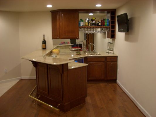 143 best Basement Finishing Ideas images on Pinterest on Small Wet Bar In Basement  id=54961