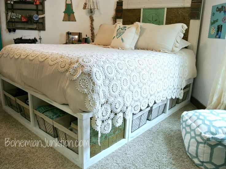 1000 Ideas About Queen Storage Bed Frame On Pinterest