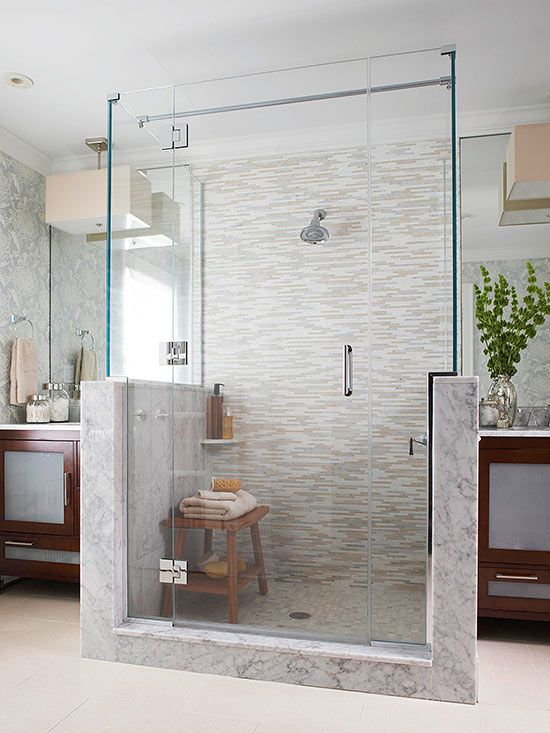 15 Stylish Seats For Walk In Showers Shower Set Tile