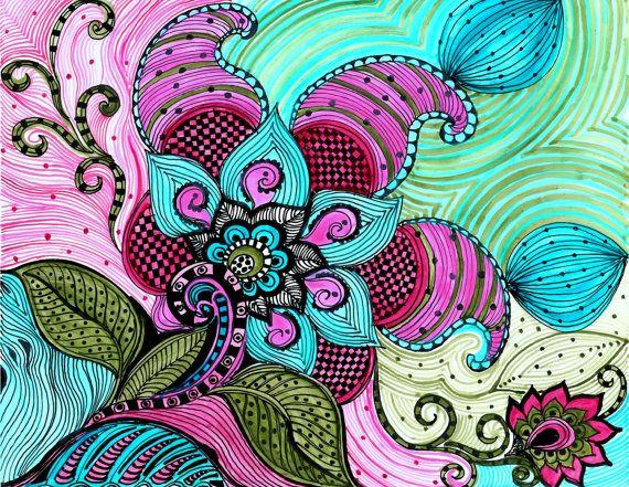 278 Best Doodle Flowers Images On Pinterest