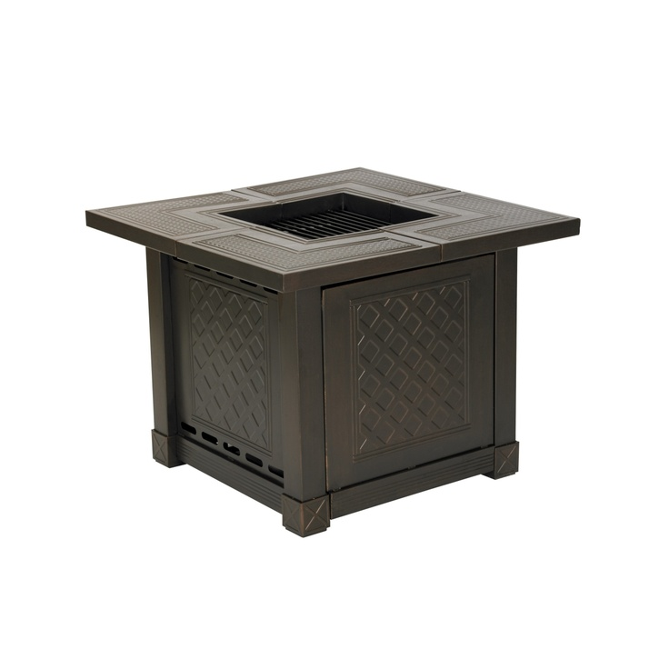 Living Accents® Herrington Square Decorative Table Gas ... on Propane Fire Pit Ace Hardware id=76073