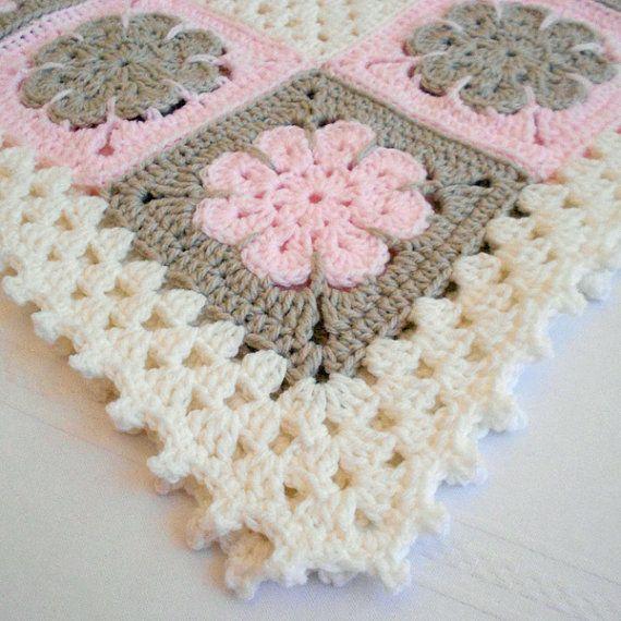 Crochet Pattern – Easton Baby Afghan Blanket Babyghan – Throw Blanket or Lapghan Pattern – Instant Download PDF