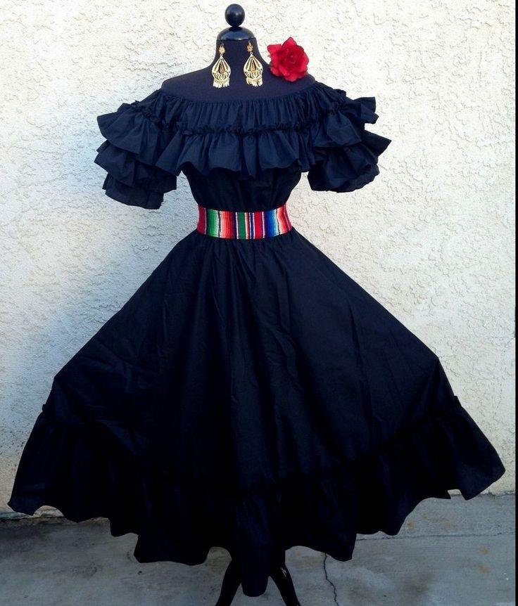 Mexican Fiesta5 De Mayowedding Black Dress Off Shoulder