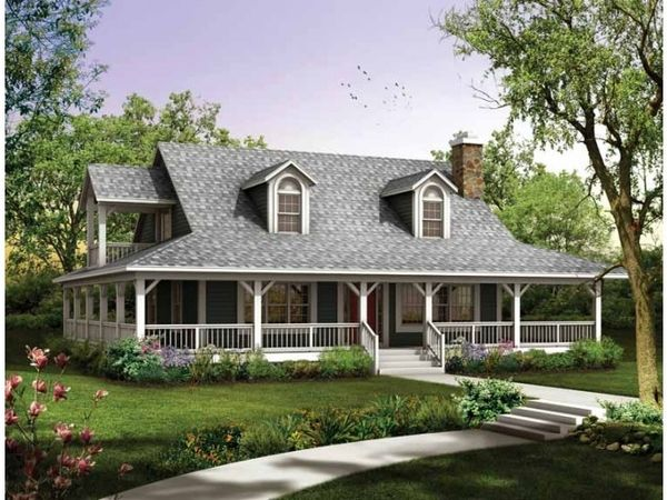 Rustic House Plans With Wrap Around Porches Exterior