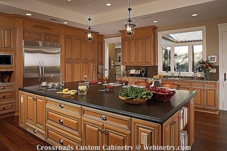 25 best images about kitchen designs on Pinterest   Oak ... on Maple Cabinet Kitchen Ideas  id=89337