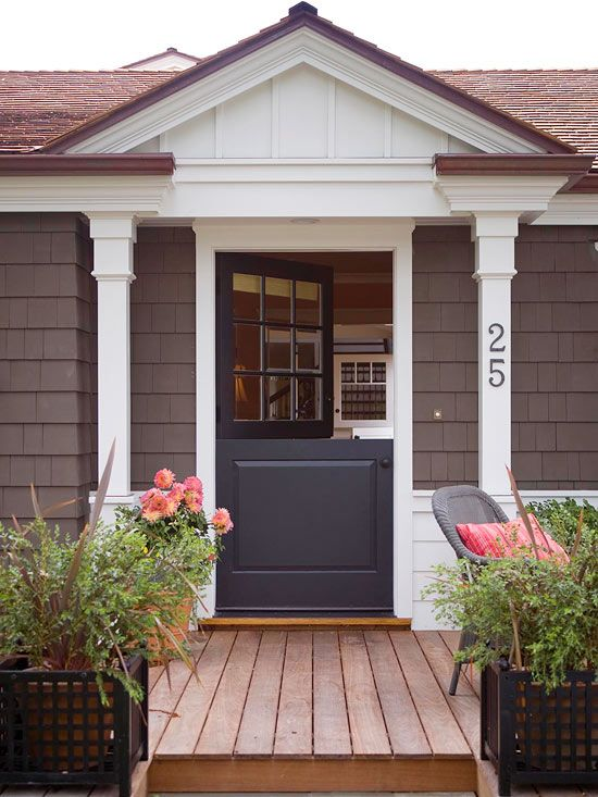 Give your home whimsical style with a Dutch front door. See more home home update ideas: http://www.bhg.com/home-improvement/remodeling/budget-remodels/weekend-projects-under-20-dollars/#page=17: