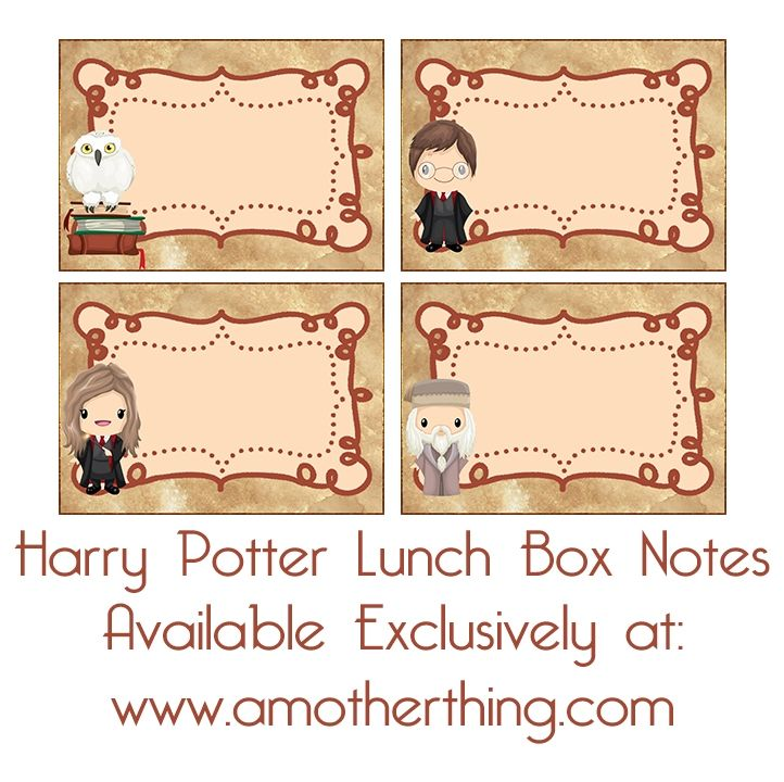 Free Printable Harry Potter Book Labels And Lunch Box