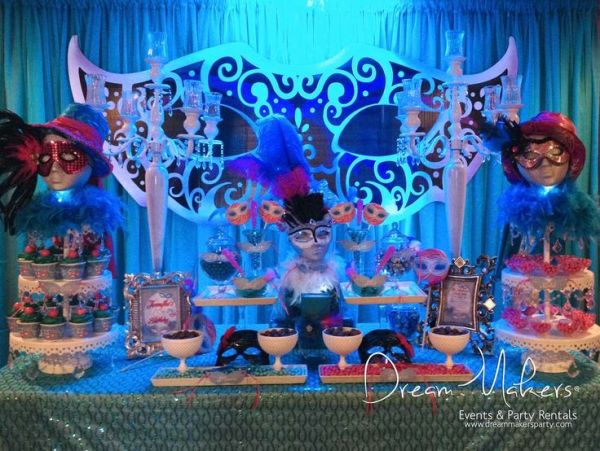 Masquerade Quinceañera Party Ideas | The giants ...