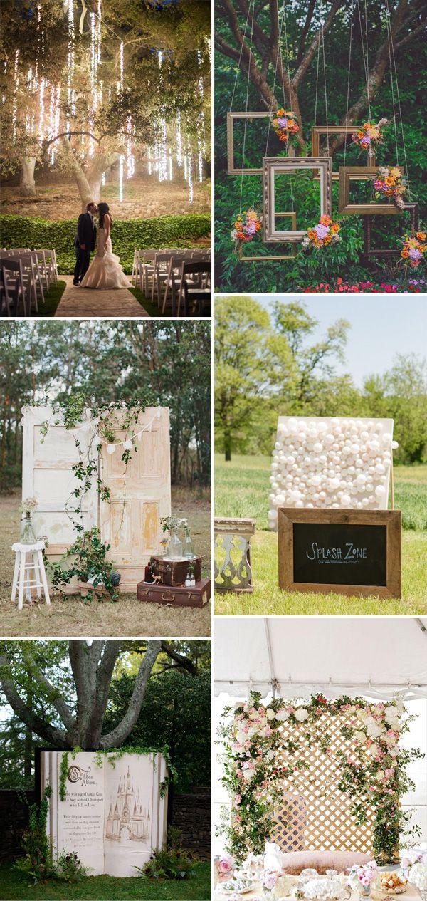 whimsical romantic backdrop ideas for 2015 wedding ceremony decorations #weddingideas