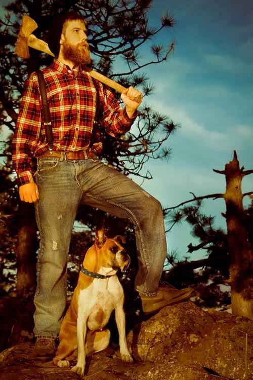 Lumberjacks Red Beard And Man Portrait On Pinterest