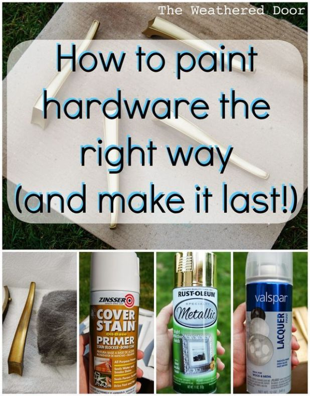 Can you spray paint kitchen cabinet hardware for Best paint and primer for kitchen cabinets