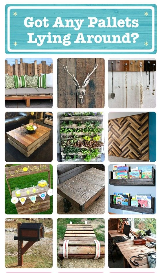 73 ways to reuse old pallets for new projects!