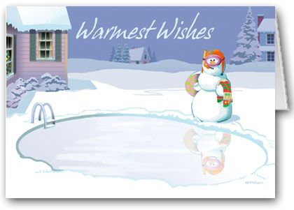 Kersten Cards Personalized Frozen Swimming Pool