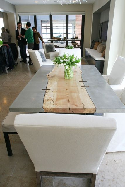 Love this! If I had a log saw, I'd def make some stuff like this!! Inbound Thread: DECOR – wood / concrete dining table