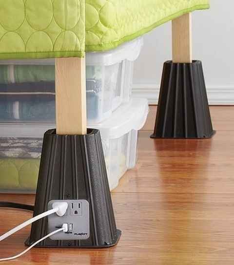 Bed Risers with Built-In Po