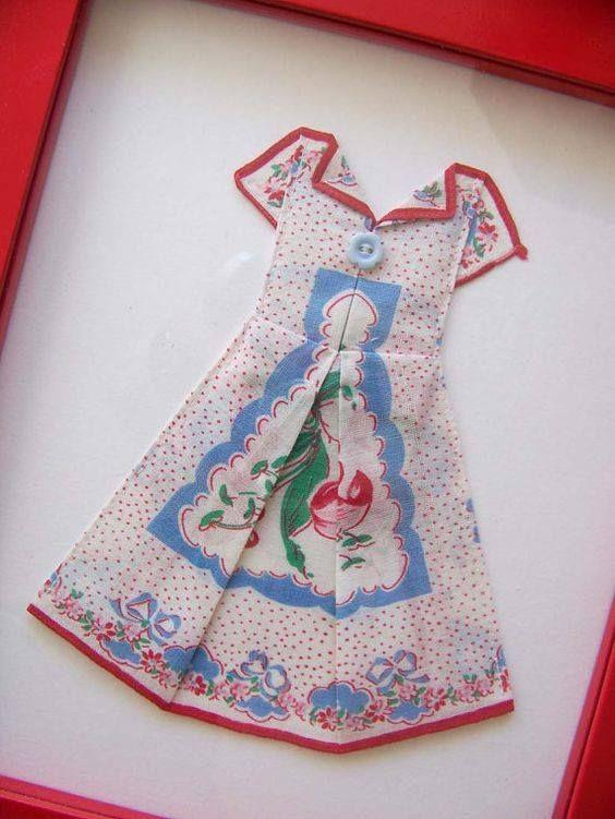 Folding A Handkerchief To Make A Dress Applique Quilts