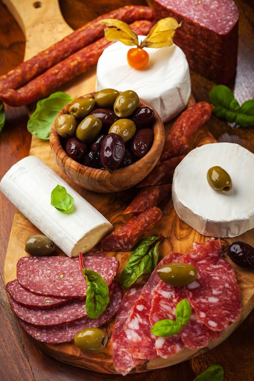 Antipasto Meat  Cheese Platter / Party Perfect Appetizers and Hor d'oeuvres re