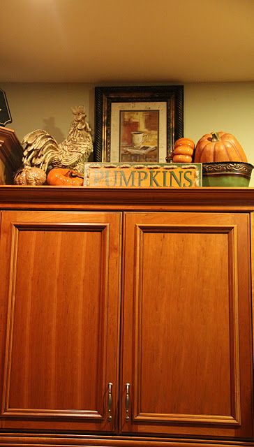 42 best images about decor above kitchen cabinets on pinterest stove kitchen cabinets decor on kitchen hutch id=85255