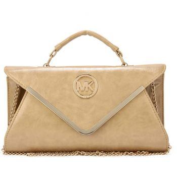 Michael Kors Leather Chain Large Apricot Shoulder Bag [MK0000001964] – $64.99 :