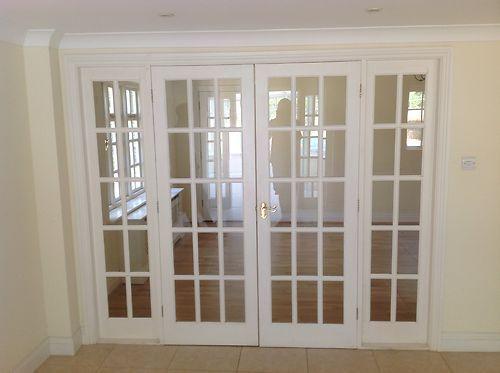 White 15 Glass Panel Internal French Doors Amp Frame 2 4m