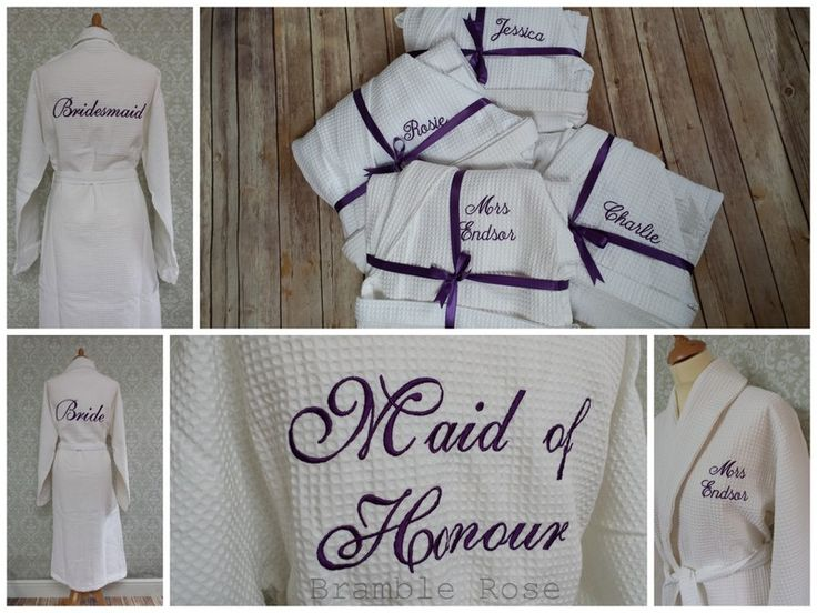 Personalised Bridal Part Dressing Gowns, Bride, Bridesmaid