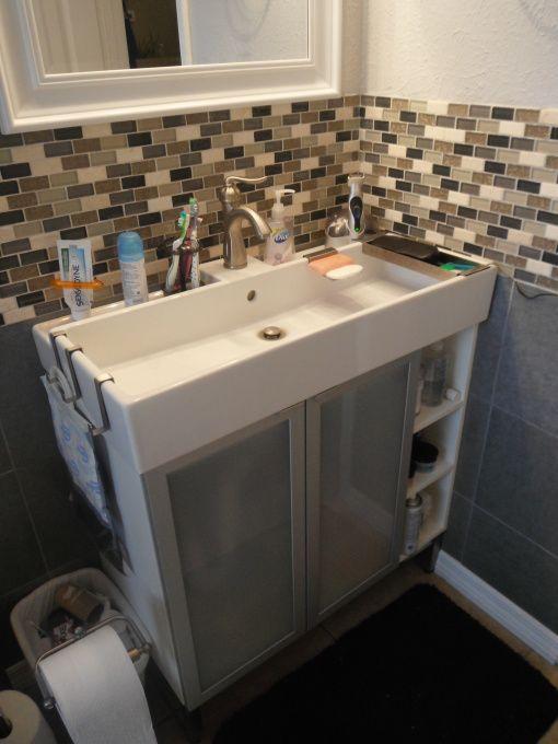 New vanity from Ikea  , Bathrooms Design for cramped bathroom