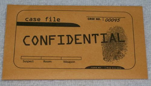 Confidential Envelope Clue Who Dunnit Pinterest