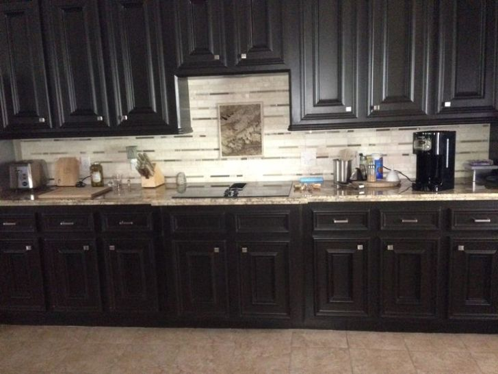 Once White Cabinets Were Painted Bittersweet Chocolate Paint