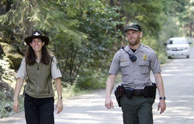 A canadian bc parks ranger and a us national park ranger