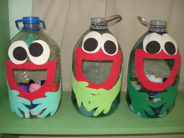 Divertido Juego Con Botellas Recicladas Juegos Pinterest