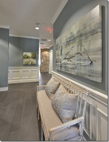 Wall Paint Color Is Benjamin Moore Sea Pine Stunning Mid Tone Blue Gray