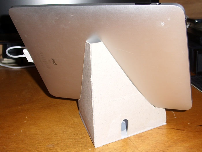 Tablet Stand Made Of Cardboard With Pdf Crafty