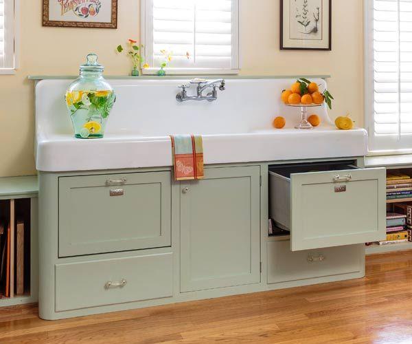 Retro Kitchen Redo Apron Sink Vintage Apron And Custom