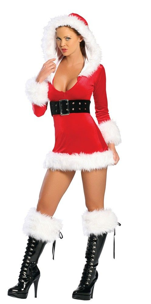 Miss Claus Hooded Dress Christmas Pinterest Products