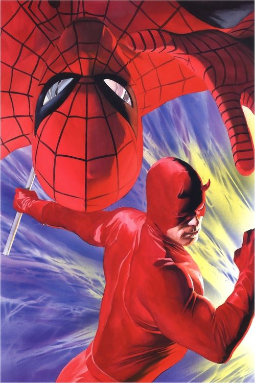 Spider-Man and Daredevil by Alex Ross.