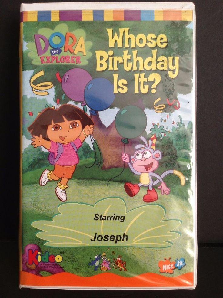 Dora The Explorer Whose Birthday Is It VHS 2003 Dora