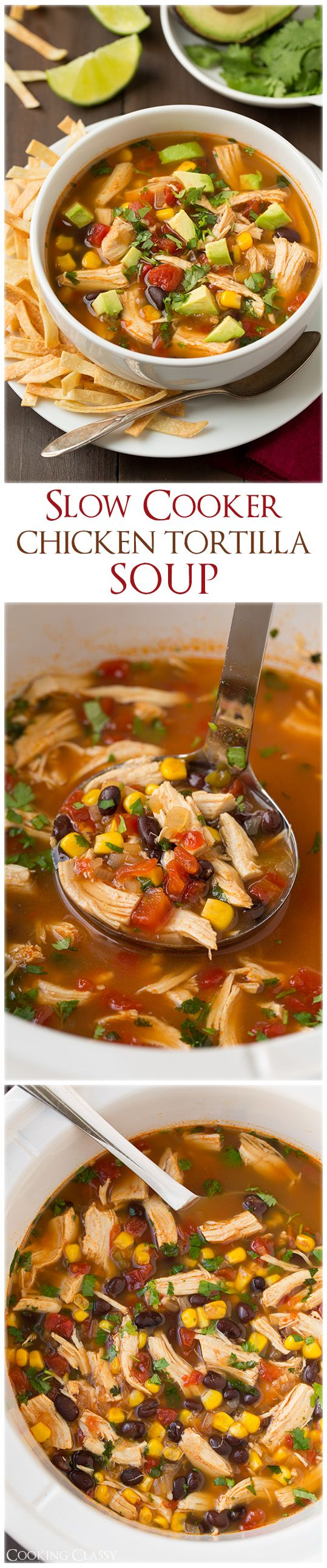 Slow Cooker Chicken Tortilla Soup – my whole family loved this! Adding it to our dinner rotation!