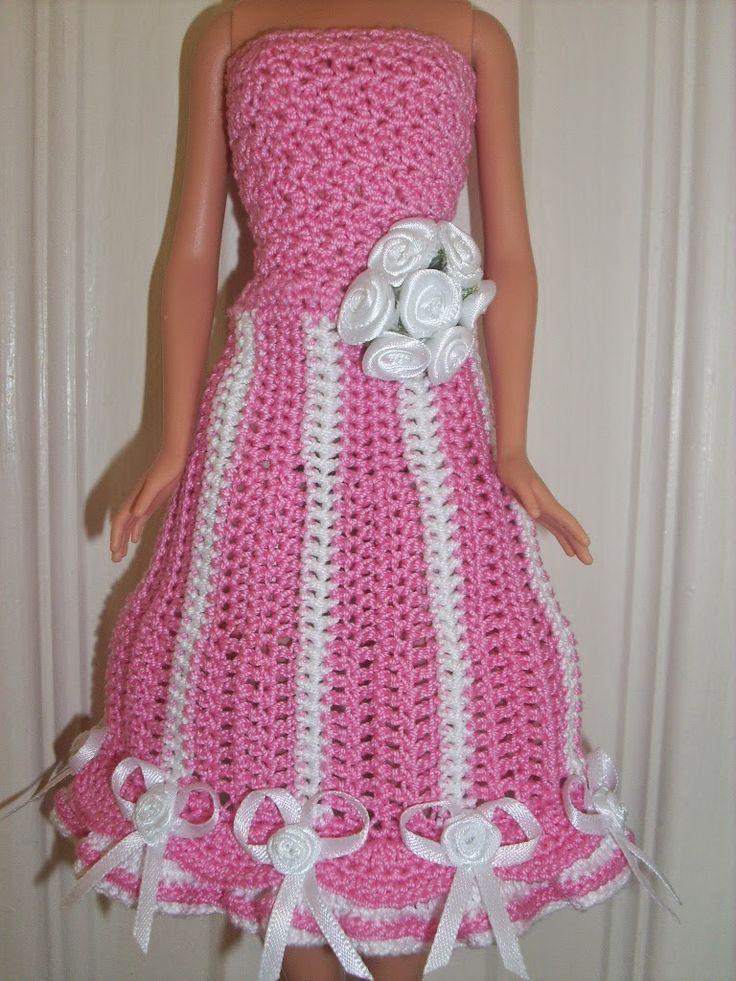 Crochet Patterns Free Barbie Ball Gown