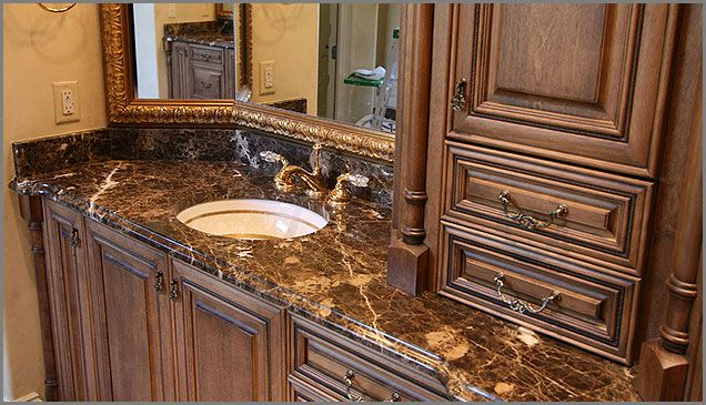 Pictures Of Marble Bathroom Countertops With Sinks BROWN MARBLE BATHROOM BROWN MARBLE BROWN